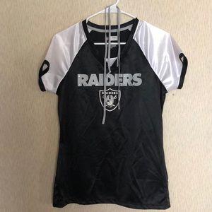 Raiders women's top size medium